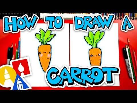 How To Draw A Funny Carrot