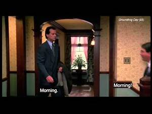 "Groundhog Day (clip1-3) -""Did you want to talk about the weather or ...chitchat""?"