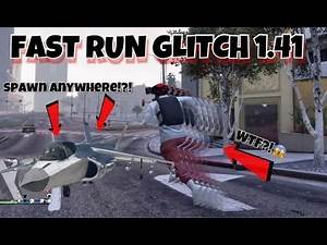 Gta 5 Online FAST RUN glitch and How to Spawn Any Plane ANYWHERE on map