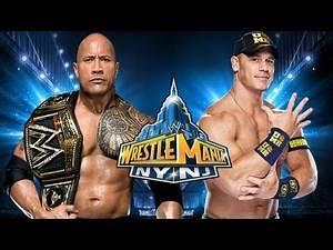 WWE Wrestlemania 29 - John Cena vs. The Rock WWE Title Full Match Prediction