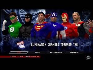 WWE 2K14- Justice League Vs Avengers