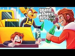 IT'S RAINING BULLDOZERS IN WINDMILL DODGEBALL! (GTA 5 FUNNY MOMENTS)