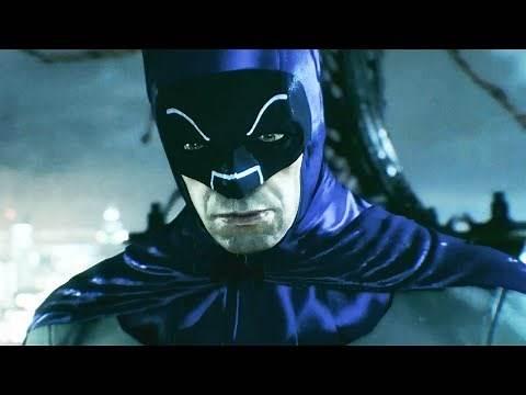 Batman Arkham Knight Adam West TV Series Batsuit Skin Gameplay (All HD)