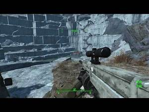FALLOUT 4 MODS THE BOZAR - AN AUTOMATIC SNIPER FROM NEW VEGAS