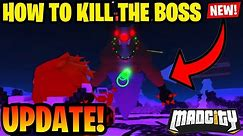 Mad City Boss Update (HOW TO GET IN THE BOSS FIGHT AND HOW TO KILL IT) *Roblox*