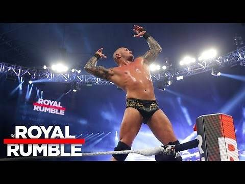 Randy Orton celebrates after winning the Royal Rumble Match: Royal Rumble 2017