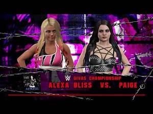 WWE 2K17 Paige VS Alexa Bliss In A Submission Match For WWE Divas Title