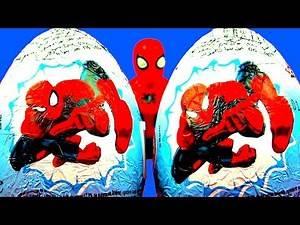 Spiderman Surprise Eggs Marvel Comics Ultimate Spider-Man Cartoon Toys Iron Fist Power Man FluffyJet