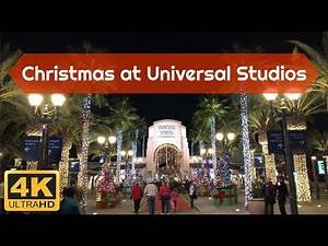 Christmas at Universal Studios Hollywood in 4K!