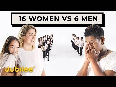 16 Women Compete for 6 Men   Versus 1