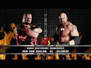 WWE 2K18 Bam Bam Bigelow vs Goldberg-World Heavyweight Championship