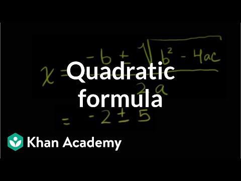 The quadratic formula | Algebra