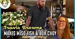 Travis Browne Cooks Miso-Glazed Fish While Ronda Games   Ronda's Kitchen