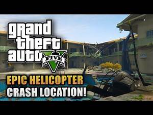 GTA 5 Forgotten Locations - EPIC Blown Up Apartment Building Police Helicopter Crash Site!
