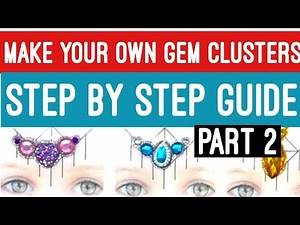 Face painting bling and gem clusters ultimate guide PART 2
