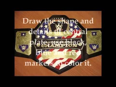 How to make WWE United States championship title belt (short tutorial)