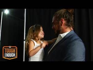 Josh and his daughter celebrate his victory: WWE Tough Enough Digital Extra, Aug. 25, 2015