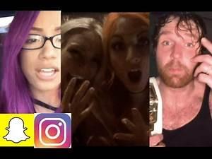 WWE Snapchat/IG Ft. Dean Ambrose, Sasha Banks, Charlotte, Becky Lynch, Braun Strowman n MORE