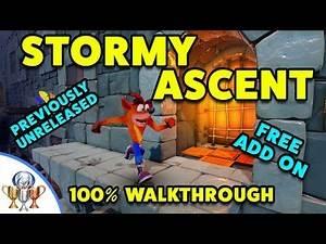 Crash Bandicoot Stormy Ascent 100% PS4 Walkthrough - Cut From Original, Unreleased VERY HARD Level