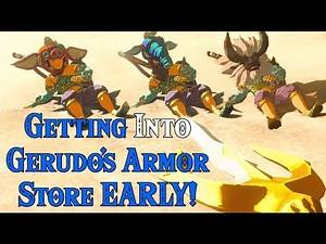 Getting the Gerudo & Radiant Armors EARLY! Enemies inside Gerudo City in Zelda Breath of the Wild