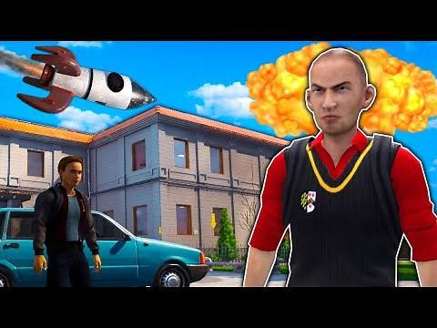 OB & I Launched a Rocket at School in this Funny School Simulator! - Bad Guys At School Multiplayer