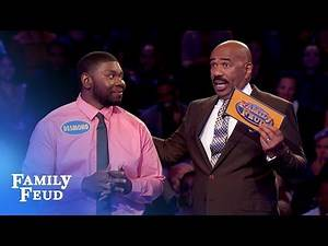 Celeste and Desmond chase $20,000! | Family Feud