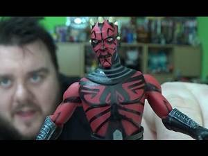 Star Wars Clone Wars Darth Maul Cybernetic Legs Habsro 3.75' Action Figure Unboxing Review