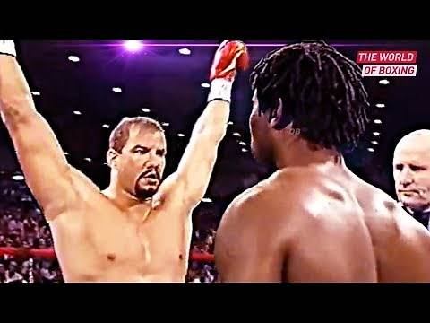 Brutal fight between Tommy Morrison and Lennox Lewis