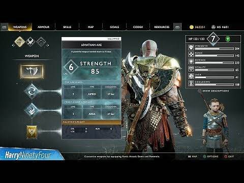 God of War - How to Fully Upgrade the Leviathan Axe (Worthy Trophy Guide)
