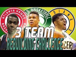 NBA 2K17 | 3 TEAM REBUILDING CHALLENGE | 3 SUPER TEAMS! | KOT4Q