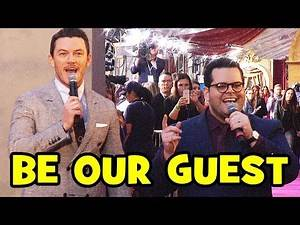 """Luke Evans & Josh Gad Sing """"Be Our Guest"""" At BEAUTY AND THE BEAST World Premiere"""