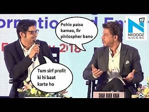 "Shah Rukh Tells Arnab Goswami ""First Become Rich Then Become A Philosopher"" 