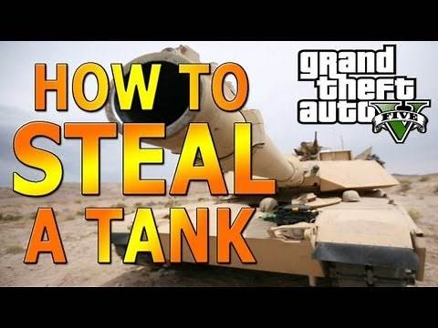 HOW TO: Steal a Tank (Easy Way) - GTA V