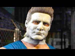 Mortal Kombat XL - Michael Myers Johnny Cage Costume Mod Performs Intros On All Stages 4K Mods