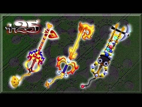 Kingdom Hearts Unchained x : Keyblades to +25
