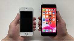 iPhone SE 2nd gen & iPhone 5S/SE 1st gen Size Comparison