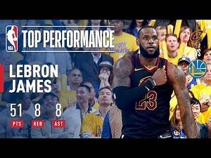 LeBron James' Epic 51 Point Performance | Game 1 Of The '17-'18 Finals