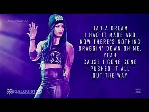 """Sasha Banks New Official WWE Theme Song - """"Sky's the Limit"""" (Remix) with download link and lyrics"""