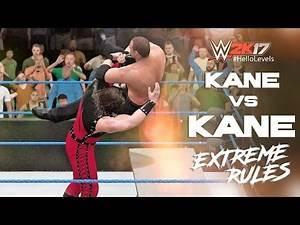 WWE 2K17 Kane vs Kane '98   EXTREME RULES Full Match PS4 Gameplay