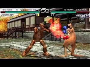 Tekken: Dark Resurrection (PSP) Story Battle as Mokujin