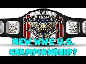 NEW WWE U.S. CHAMPIONSHIP BELT!!?