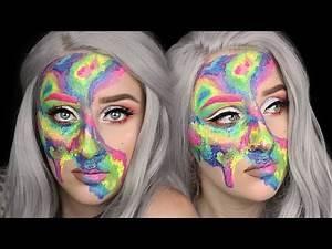 Rainbow Watercolour Body Paint Makeup Tutorial