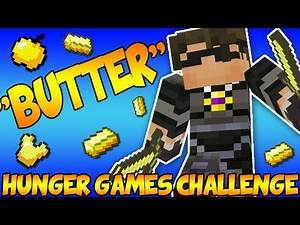 "Minecraft Hunger Games Challenge ""BUTTER"" Inspired by SkyDoesMinecraft"