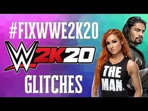 Reacting to WWE 2k20 glitches