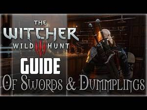Witcher 3 Wild Hunt - How to Unlock Mastercrafted Weapons (Of Swords and Dumplings)
