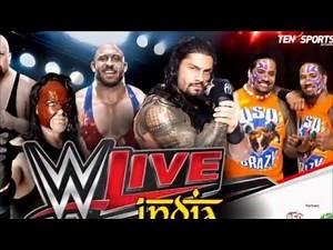 WWE Live India Ten Sports Live Telecast 15, 16 January 2016 Online