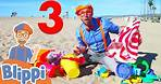 Blippi Visits The Beach and Learns Numbers   Educational Videos For Kids
