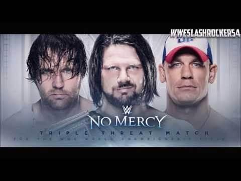 WWE No Mercy 2016 Match Card