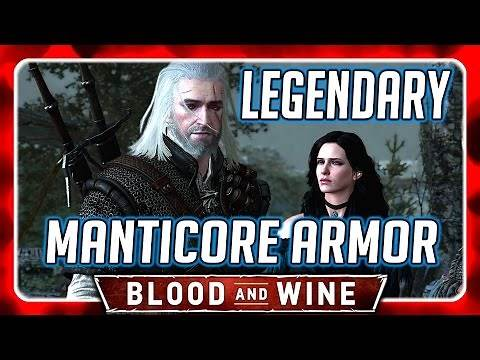 Witcher 3 🌟 LEGENDARY MANTICORE ARMOR [NG+] 🌟 Blood and Wine