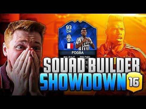 FIFA 16 - EPIC TOTY POGBA AT STRIKER SQUAD BUILDER SHOWDOWN!!!